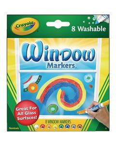 Crayola® Washable Window Markers, Standard Colors