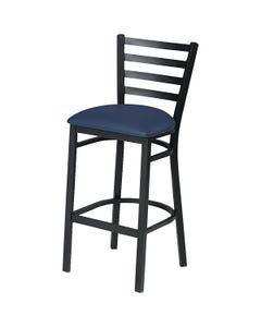 "Horizontal Slat Cafe Stool 30""H Seat Fabric"