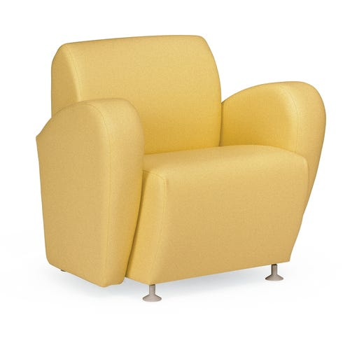 Lounge Chair with Upholstered Arms