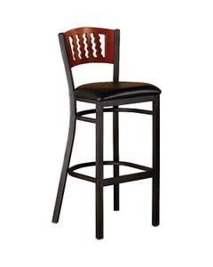"Premier Café Stool 42"" x 17-1/2"" x 17"" Wood Seat"