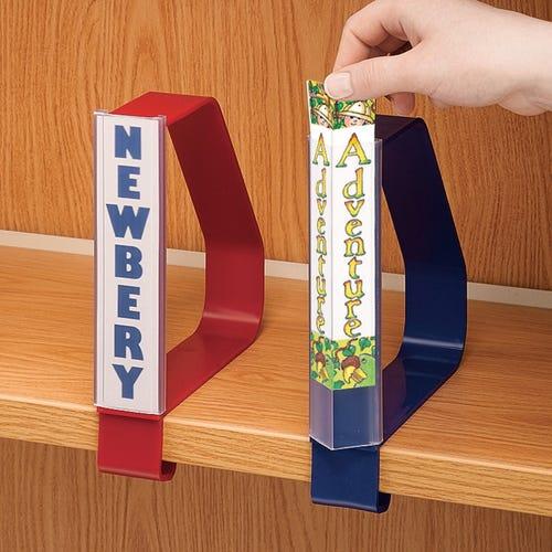 Slide-On Label Holders for Clip-On Book Support with Optional Clip-on Book Support sold separately