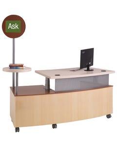 Demco® TechnoLink® Mobile Reference Desks - Curved