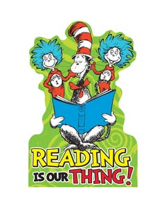 Demco® Upstart® Dr. Seuss™ Reading Is Our Thing Stand-Up Display
