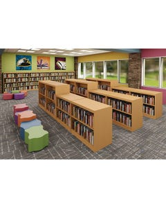 Demco® LibraCraft® Double-faced Mobile Picture Book Wood Shelving