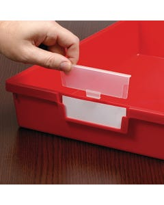 Labels & Protectors for Certwood StorSystem Classroom Storage Trays