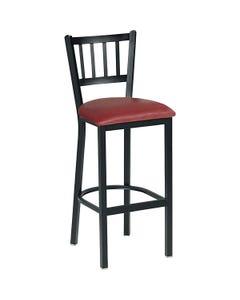 "Vertical Slat Café Stool 30""H Seat Fabric"