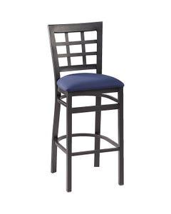 """Nine Squares Café Stool 30""""H Seat Fabric"""