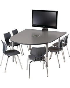 Shown with Large Media Table, TV mount and optional power modules, sold separately