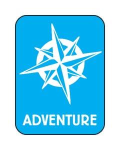 Demco® Modern Genre Subject Classification Labels - Adventure