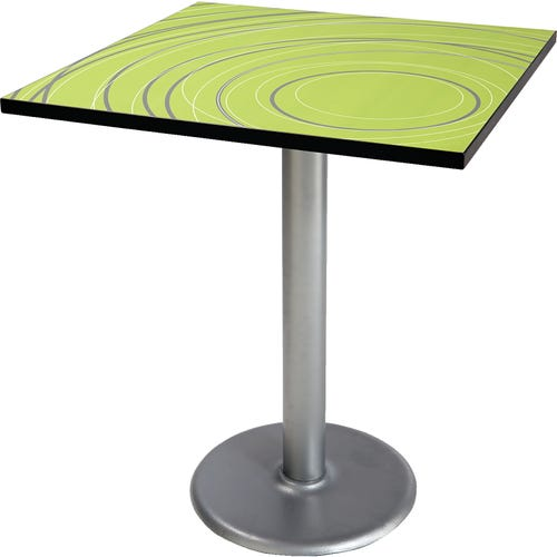 Square Table shown with Radiance Green top