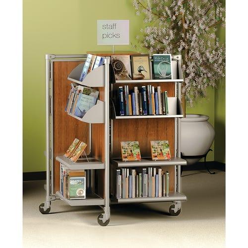 8 Flat & 8 Media Shelves, Shown with Laminate Panels