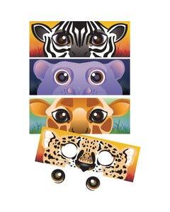 Demco® Upstart® Safari Animals Mask Marks