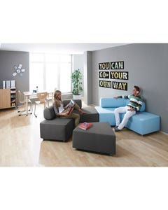 2 Sofas and 1 Ottoman. Each piece sold separately