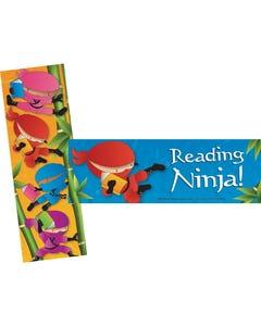 "Ninja Theme Bookmarks 2"" x 6"" 2 Designs 200/Pkg"