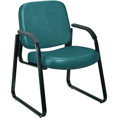 Guest Chair w/Arms, Vinyl Seat