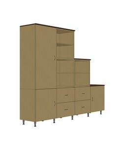 Hale Cubed Modular Storage - Configuration 3