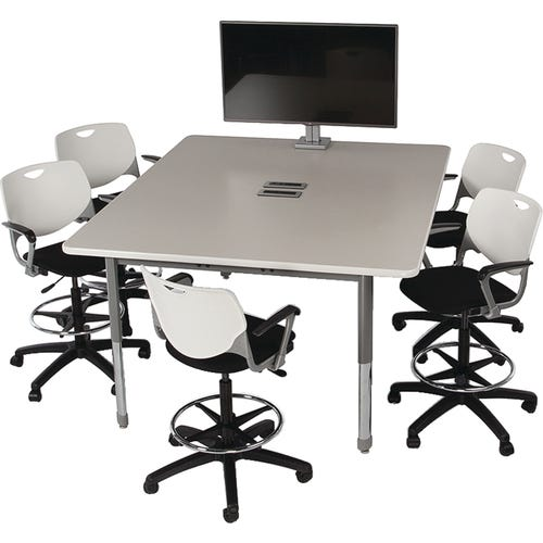 Shown with Rectangle Media Table 4 Power, 8 USB