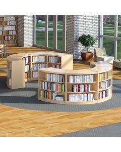 Demco® LibraCraft® Radius Wood Library Shelving