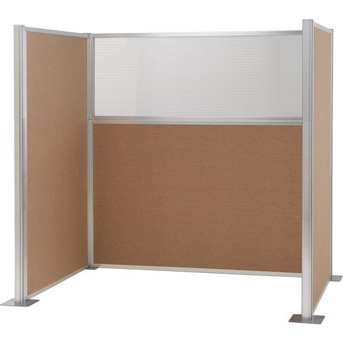 2 Fabric Panels, 1 Panel With Glass Pane and 4 Posts (sold separately)