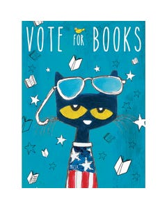 Demco® Upstart® Pete the Cat® Vote for Books Poster
