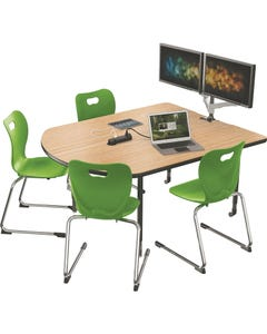 Table Shown With Optional Mounts and Pop-up Grommet