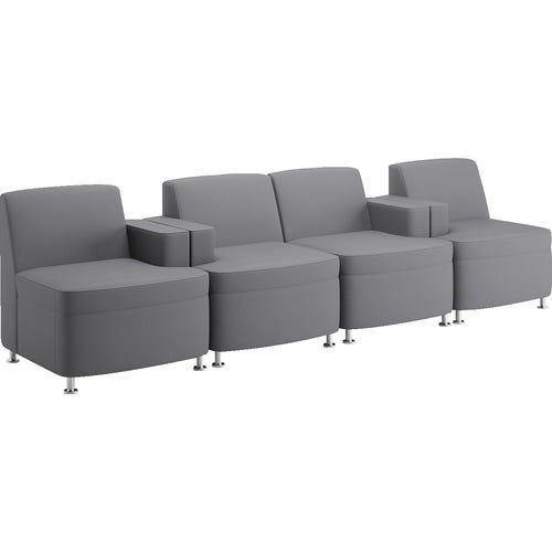 Shown above: 2 Left Arm Only Chairs and 2 Right Arm Only Chairs in Clovercloth Graphite (no casters, no power)