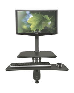 MooreCo™ Front Mount Sit/Stand Workstation - Single Mount