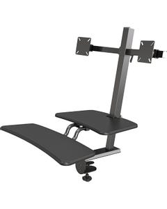 MooreCo™ Front Mount Sit/Stand Workstation - Dual Mount