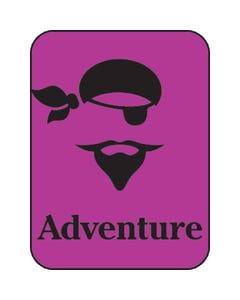 Demco® Silhouette Genre Subject Classification Labels-Adventure