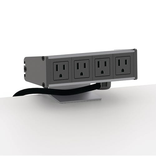 Clamp-style Power Socket Has 4 Plugs and 15' Cord