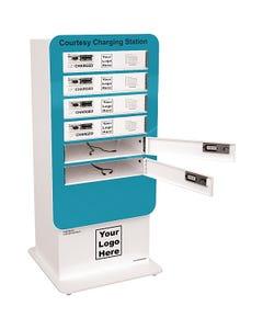 6-bay Locker shown in Teal