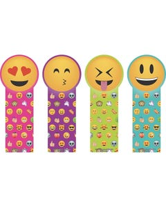 Demco® Upstart® Die-Cut Bookmarks - Emoji Faces