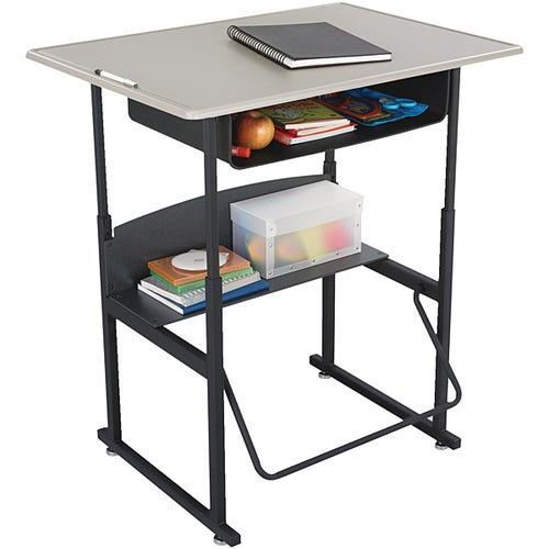 SAFCO® AlphaBetter® Desk Shown With Book Box Shown in Beige
