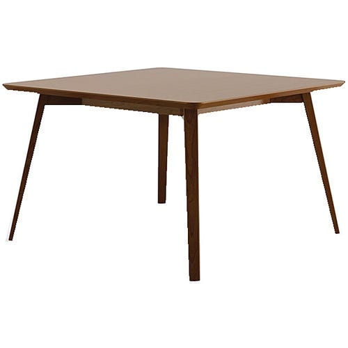Square Table With Wood Legs.  Shown Without Power.