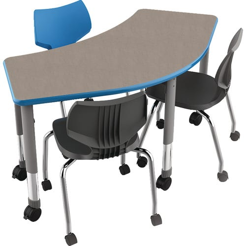 Shown With Pewter Mesh Laminate Top, Cerulean Edge, and Platinum Frame. Smith System™ Flavor Chairs Sold Seperately.