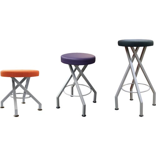 Upholstered Stools Shown from Left to Right: 18