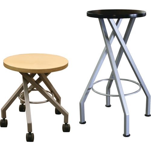 Wood Stools Shown from Left to Right: 18