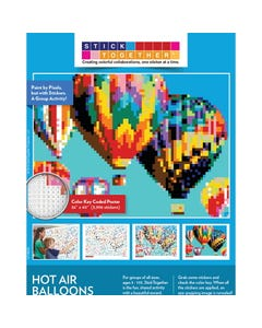 StickTogether® Hot Air Balloon Mosaic Sticker Puzzle Poster