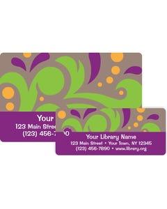 Gaylord® Predesigned Patron ID Cards - Flourish