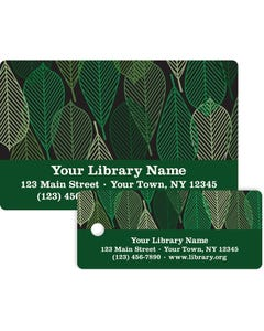 Gaylord® Predesigned Patron ID Cards - Leaves