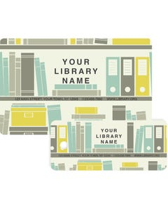Gaylord® Predesigned Patron ID Cards - Book Shelves
