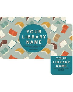 Gaylord® Predesigned Patron ID Cards - Falling Books