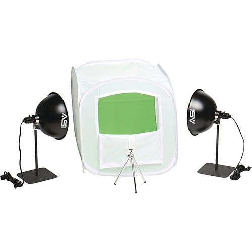 Kit Shown Set-up with Green Chroma Key Background Sweep