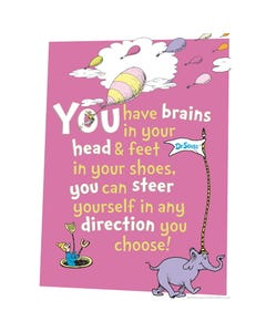Demco® Upstart® Dr. Seuss™ You Have Brains Poster