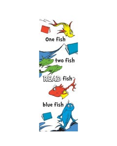 Demco® Upstart® Dr. Seuss™ One Fish, Two Fish White Bookmarks
