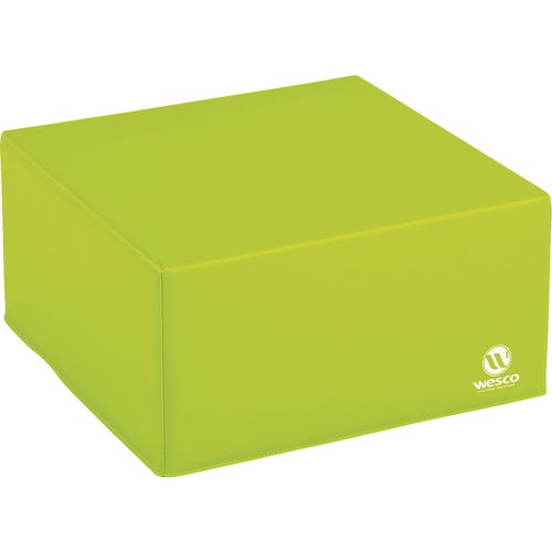 "Quarter Cube Cushion Measures 9-3/4""H x 19""W x 19""D"