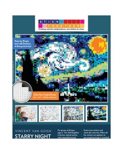 StickTogether® Masterpiece Starry Night Mosaic Sticker Puzzle Poster