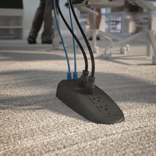 Quad Receptacle Under-carpet shown