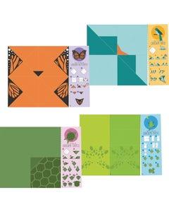 Demco® Upstart® Origami Activity Animal Bookmarks - Frog, Turtle, Bird, Butterfly