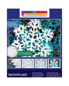 StickTogether® Winter Snowflake Mosaic Sticker Puzzle Poster